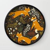 Fox Tales Wall Clock