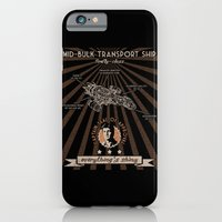 iPhone & iPod Case featuring Mid bulk transport ship poster by BomDesignz