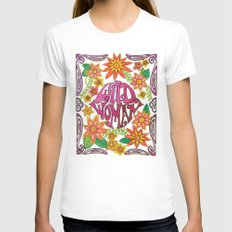 Wild Woman Womens Fitted Tee White SMALL