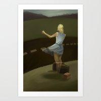 The Vanishing Hitch Hiker Art Print