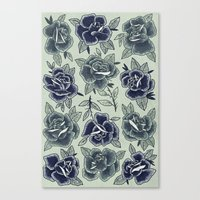 Dozen Roses - Blue Canvas Print