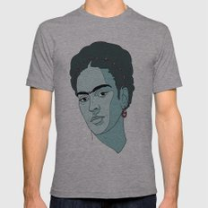 Frida Kahlo Mens Fitted Tee Athletic Grey SMALL