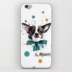 Chic Chihuahua dog iPhone & iPod Skin