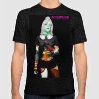 Courtney Love. Mens Fitted Tee Tri-Black SMALL