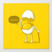 Heggllo! Canvas Print
