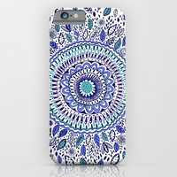 Indigo Flowered Mandala iPhone 6 Slim Case