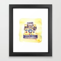Vintage gadget series: Polaroid OneStep camera Framed Art Print