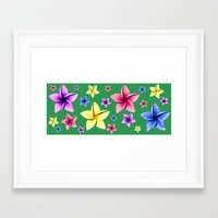 Flower Crazy Framed Art Print