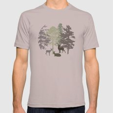 Morning Deer In The Woods No. 1 Mens Fitted Tee Cinder SMALL