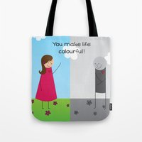 Colourful Life Tote Bag