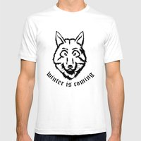 Stark Wolf Mens Fitted Tee White SMALL