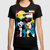 Mickey's Band Womens Fitted Tee Tri-Black SMALL