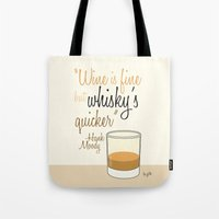 Tv Drink Quotes [Califor… Tote Bag