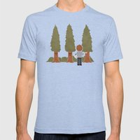 Happy Trees Mens Fitted Tee Tri-Blue SMALL