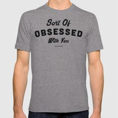 OBSESSED Mens Fitted Tee Tri-Grey SMALL
