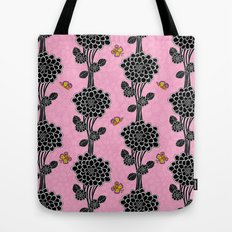 Flowered tree. in pink Tote Bag