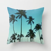 Throw Pillow featuring Palm Trees by Whitney Retter