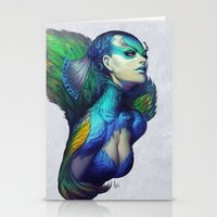 peacock Stationery Cards featuring Peacock Queen by Artgerm™