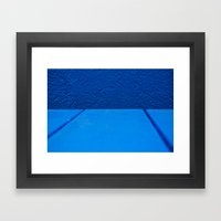 Blue On Blue Framed Art Print
