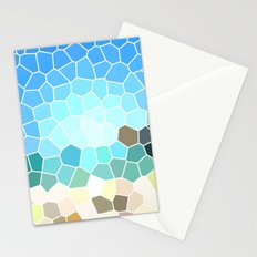 Abstract Geometric Background Stationery Cards