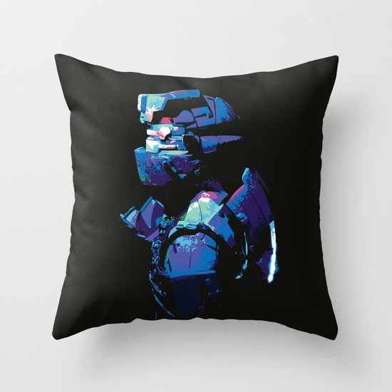Dead Space: Splatter Isaac Throw Pillow