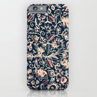 Navy Garden - Floral Doo… iPhone 6 Slim Case
