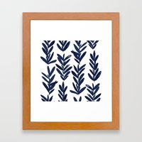 Sage - Indigo Framed Art Print