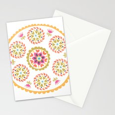 Suzani inspired floral 4 Stationery Cards