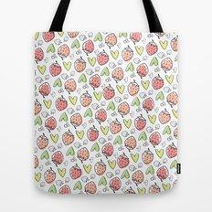 Pattern: Strawberries & Hearts Tote Bag