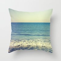 in the arms of the Ocean Throw Pillow