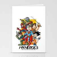 My Heroes Stationery Cards