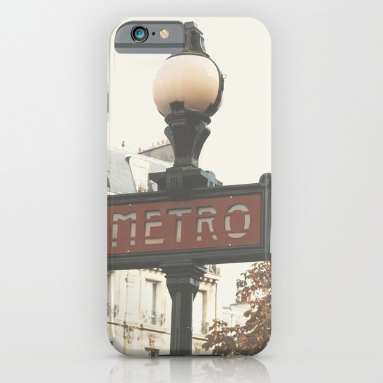 Metro - Paris Sign Photography iPhone & iPod Case