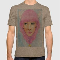 Bubblegum Queen Mens Fitted Tee Tri-Coffee SMALL