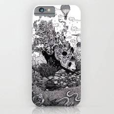 Land of the Sleeping Giant (ink drawing) iPhone 6 Slim Case