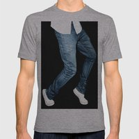 blue jeans on  Mens Fitted Tee Athletic Grey SMALL