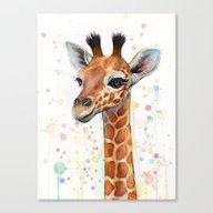 Giraffe Baby Canvas Print