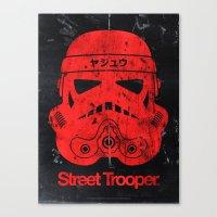 BEAST Street Trooper Head (Vintage Teal) Canvas Print