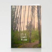 Lets go down to the woods Stationery Cards