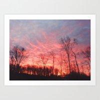 Fire In The Sky II Art Print