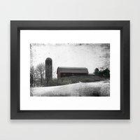 Winter on the Farm Framed Art Print