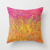 Fluid Colors G262 Throw Pillow