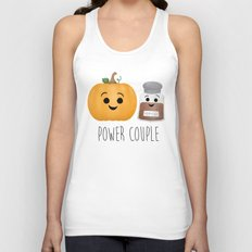 Pumpkin + Spice = Power Couple Unisex Tank Top