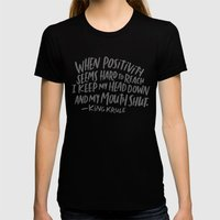 King Krule Womens Fitted Tee Black SMALL