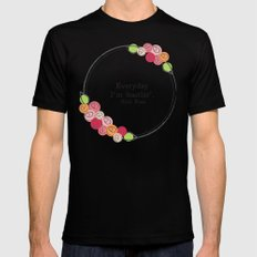 Floral - Hustlin' Black SMALL Mens Fitted Tee