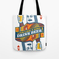 King Of Beers Tote Bag