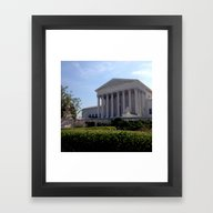 Framed Art Print featuring Supreme Court by KatieKatherine
