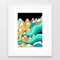 Waves Of The Mountains Framed Art Print