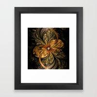 Shining Leaves Fractal Art Framed Art Print