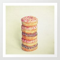 Stack Of Donuts Art Print