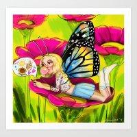 Bug Girls: Social Butter… Art Print